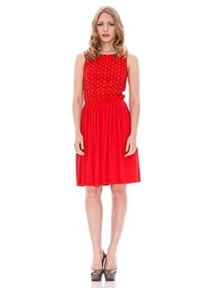 Springfield Vestido Lazo Plisado (Rojo)