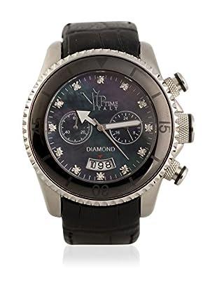 Vip Time Italy Uhr mit Japanischem Quarzuhrwerk VP8008BK_BK schwarz 50.00  mm