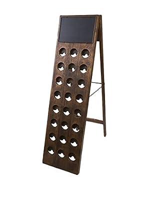 bambeco 24 Bottle Wine Riddling Rack, Brown