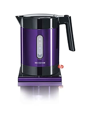 Severin 3336 - Hervidora de Agua Acero Inox 1,2 Litros Negro y Púrpura