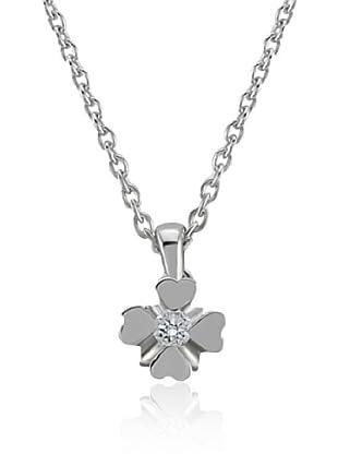Divas Diamond Collar Diamante Solitario Plata