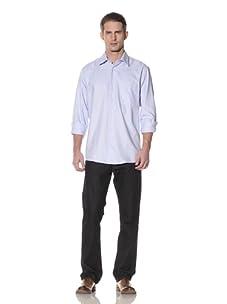 XMI Men's Stripe Dress Shirt (Blue)