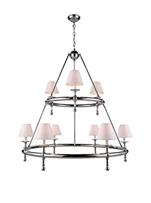 Urban Lights Montgomery 9-Light Pendant Lamp, Polished Nickel