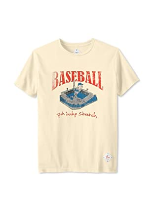 7th Inning Stretch Men's Batter Up T-Shirt (Faded Yellow)