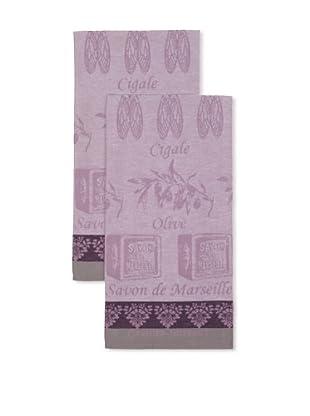 Garnier-Thiebaut Set of 2 Produits Provencaux Olivette Kitchen Towels