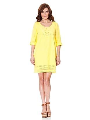 Cortefiel Vestido Encaje (Amarillo)
