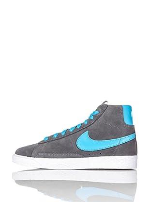 Nike Zapatillas Blazer Mid (Ps) (Gris/Azul)