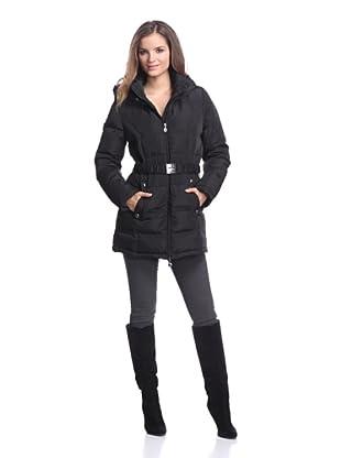 Calvin Klein Women's Belted Down Coat (Black)