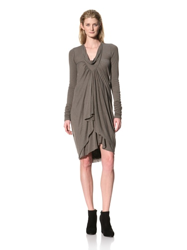 RICK OWENS Women's Cowl Neck Tunic (Darkdust)