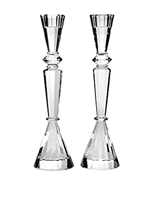 Godinger Essex Candlesticks, Clear Crystal