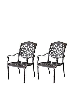 Hansen Set of 2 Madera Dining Arm Chairs, Bolero