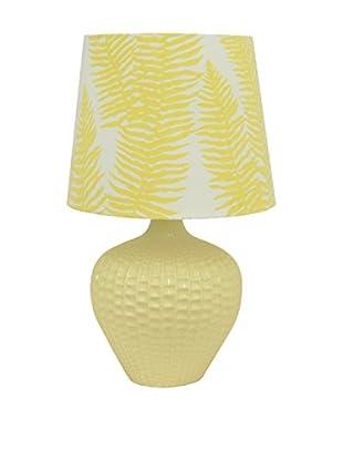Three Hands Ceramic Table Lamp, Yellow