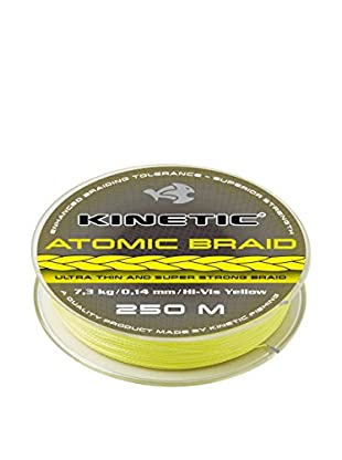 Kinetic Angelschnur Atomic Braid 0,22 mm Hi-Vis gelb