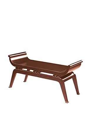 Artistic Dynasty Transitional Asian-Style Hardwood Bench, Cherry