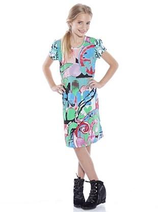 Custo Growing Kleid Paint (Mehrfarbig)