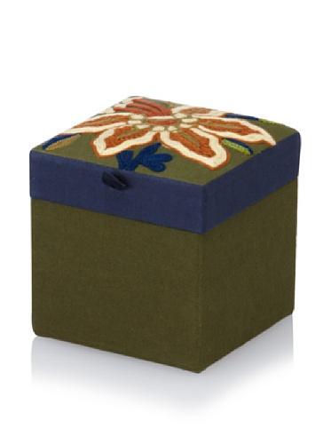 Purva Calla Lily Trinket Box, Moss Green