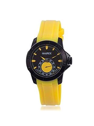 Haurex Men's 3N503UYY Acros Yellow/Black Rubber Watch