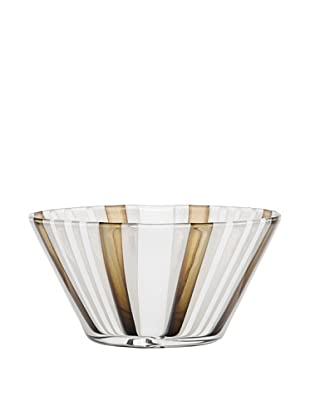 Kosta Boda Cabana Bowl, Clear/Gold