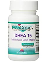 Nutricology Dhea 15 Mg Sustained Release Tablets, 60 Count