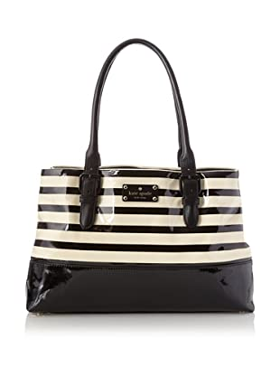 Kate Spade Women's Carlisle Street Satchel, Black Stripe