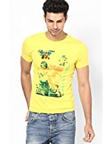 Stardust Duke Yellow Smart Fit Round Neck T-Shirt