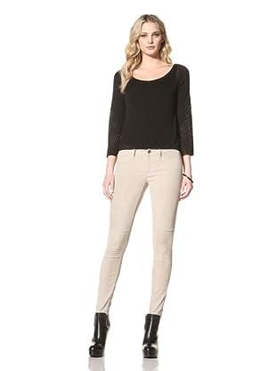 Jamison Women's Scoop Neck Sweater (Black)