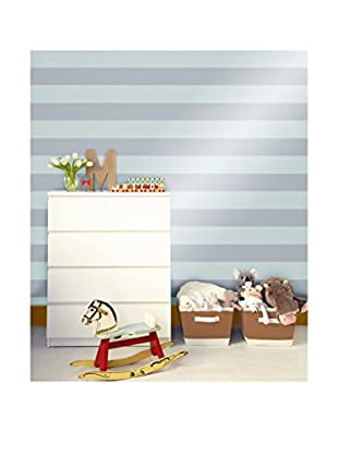 Tempaper Designs Stripe Self-Adhesive Temporary Wallpaper, Cotton Blue, 20.5