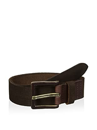 John Varvatos Star USA Men's 40 mm Double Prong Suede Belt (Brown)