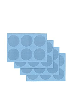 Winkler Set of 4 Ronds Jacquard Placemats (Blue)