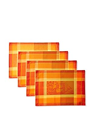 Garnier-Thiebaut Set of 4 Marie Galante Placemats, Passion