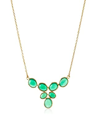 Argento Vivo Green Onyx Multi-Stone Necklace