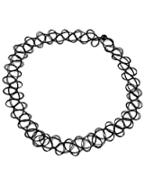 Streamline Black Fake Tattoo Stretchable Choker Necklace for Women