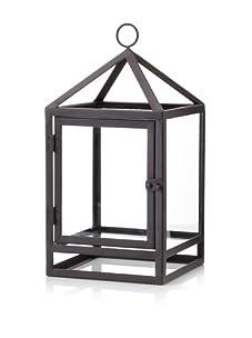Venezia Rustic Finish Lantern (Brown/Glass)