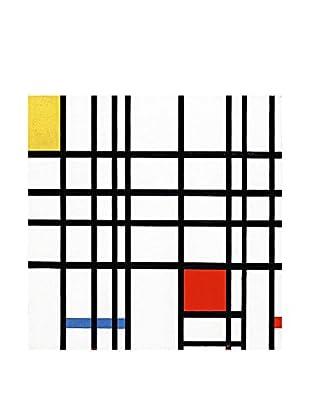 Legendarte Leinwandbild Composizione Con Giallo, Blu E Rosso di Piet Mondrian