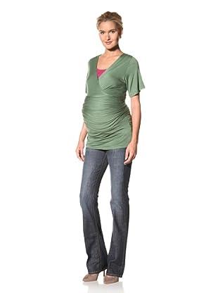 Lilac Maternity Bella Short Sleeve Top (Green)