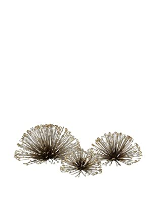 Set of 3 Laserette Wire Flower Wall Décor