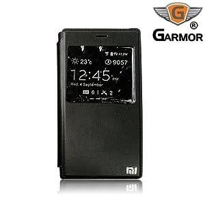 Garmor Xiaomi Redmi Note Flip Cover Case- Black