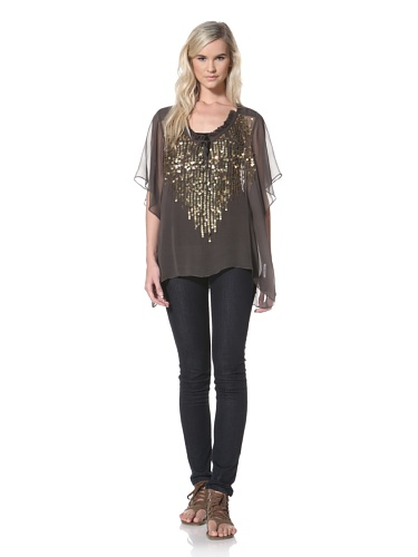 TBags Los Angeles Women's Sheer Top (Granite)