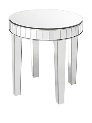 Lolita Mirror-Detailed Side Table, Silver