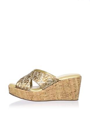 Cordani Women's Dane Crisscross Sandal (Gold)