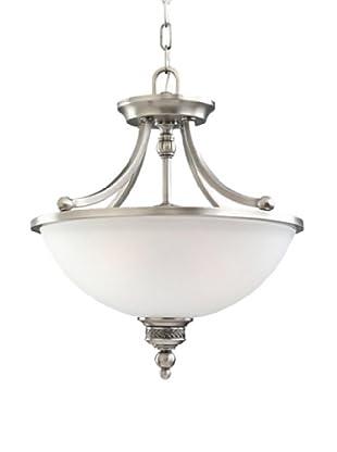 Sea Gull Lighting 2-Light Laurel Leaf Semi-Flush Convertible Fixture (Antique Brushed Nickel)
