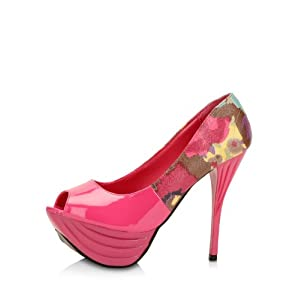 9 To Five Peep Toes With Floral Print