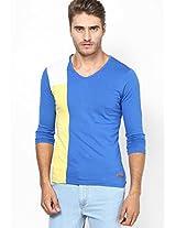 Blue V-Neck T Shirt