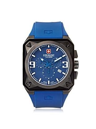 Swiss Military Calibre Men's 06-4T3B Blue Rubber Watch