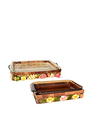 Uptown Down Previously Owned Set of 2 Glass Casserole Dishes