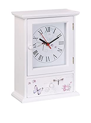 Romantic Style Reloj De Mesa Butterfly Blanco