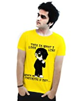Incynk Men's T-Shirt - MSS54 (Yellow)
