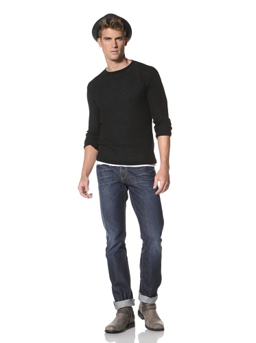 R13 Men's Long Sleeve Crew Neck (Black)