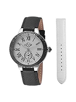 GV2 Women's Astor Enamel Black/White Leather Watch