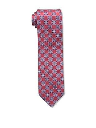 Bruno Piattelli Men's Medallion Silk Tie, Red